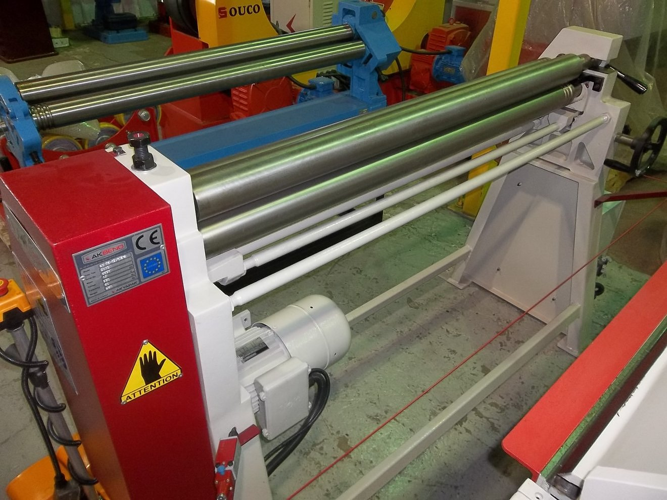 SLIP ROLL MACHINE 1.5x1250mm